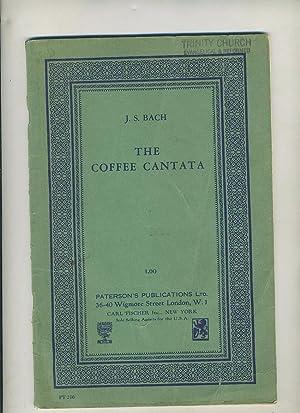 paterson diack vocal score BACH coffee cantata baker ENGLISH