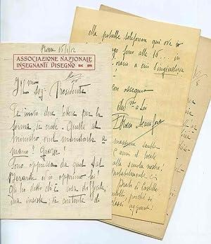 Carteggio costituito da quattro lunghe lettere autografe: Rosalia Rocco Acanfora