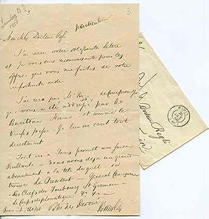 Lettera autografa firmata datata Paris 27 ?: Benjamin Lumley (Londra