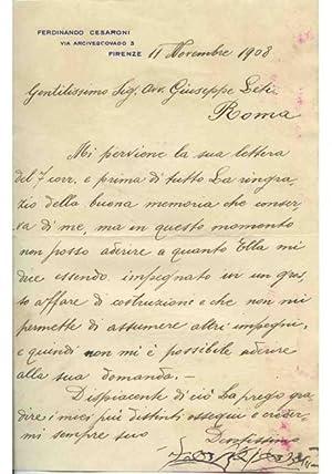 Altro bel documento ms., dat. Torino li: Carlo Alberto di