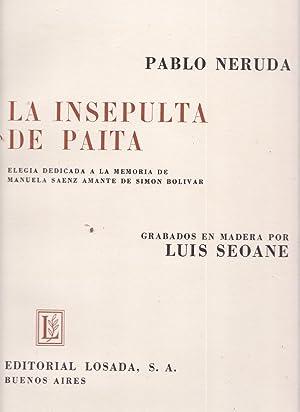 La insepulta de Paita : elegía dedicada a la memoria de Manuela Saénz amante De Simón Bolívar: ...