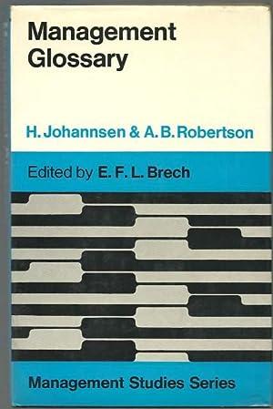 Management Glossary.: H. Johannsen, A.