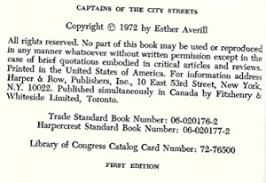 Captains of the City Streets: Averill, Esther