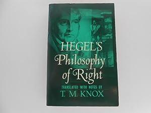 Hegel's Philosophy of Right: Knox, T.M. (translator)
