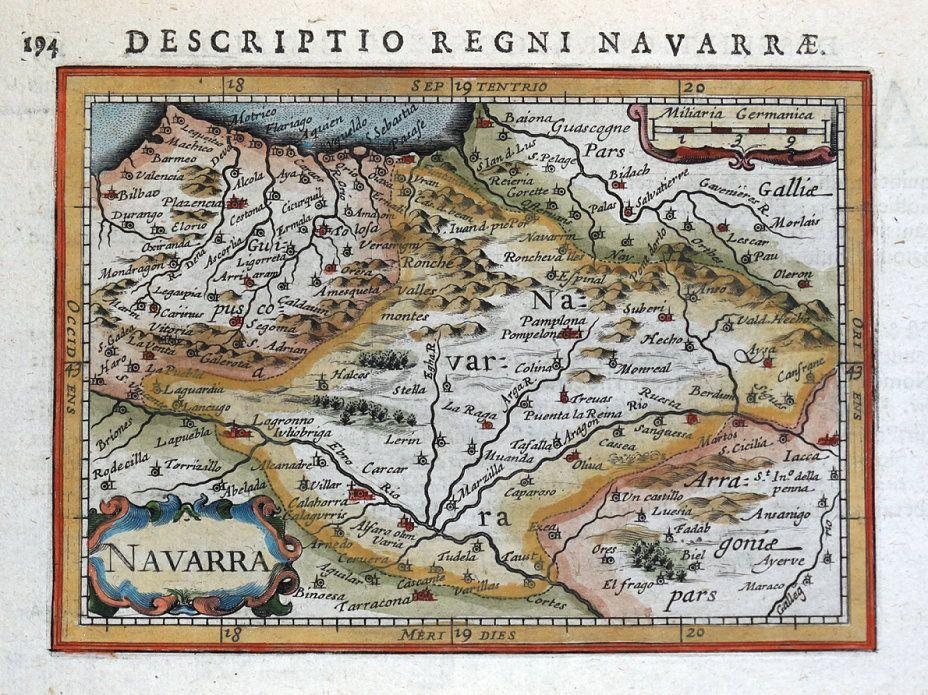 Navarra Spain Bilbao Pamplona Vitoria Gasteiz P Bertius Antique