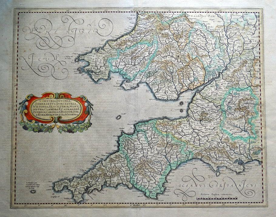 Map Of England Cornwall.S W England Cornwall Devon Somerset Wiltshire G Mercator