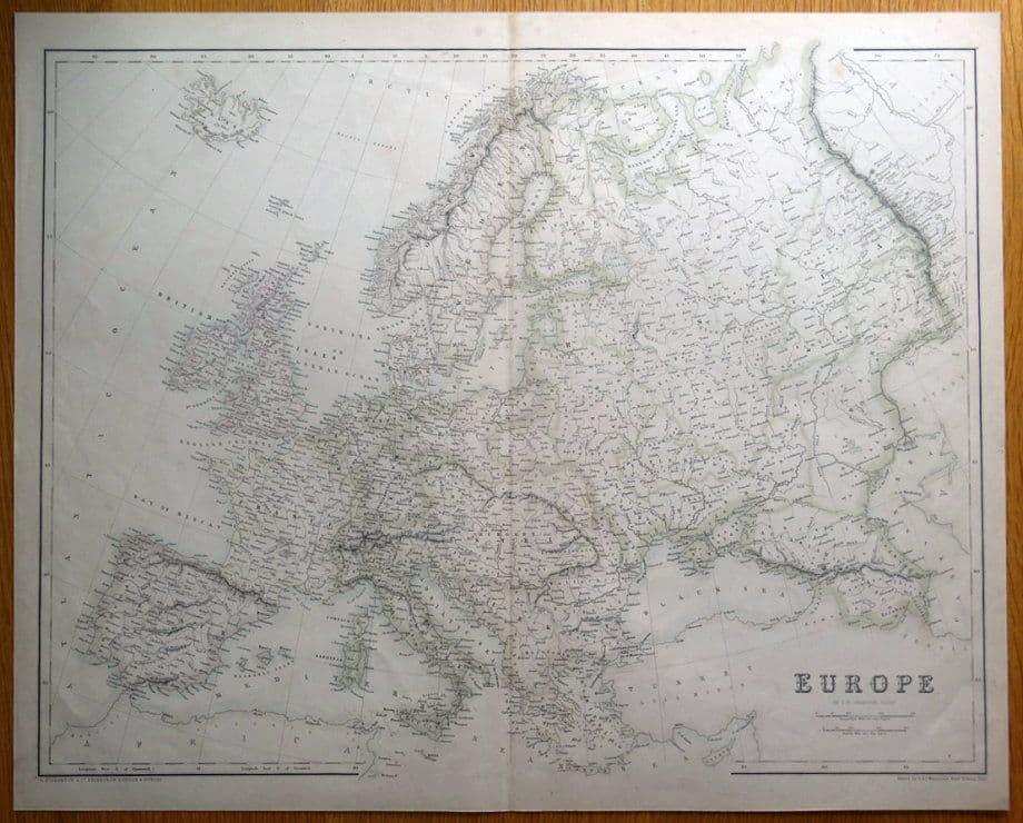 EUROPE, Fullarton original antique map c1860 on map of europe 1900, map of europe 1870, map of europe 1890, map of europe in 1865, map of europe 1840, map of europe 1944, map of europe 1800, map of europe 1875, map of europe 1912, map of europe 1946, map of europe in 1871, map of europe 1850, map of europe bodies of water, map of europe 1914, map of europe world war ii, map of europe 1880, map of europe 1805, map of europe 1938, map of europe 1648, map of europe 1939,