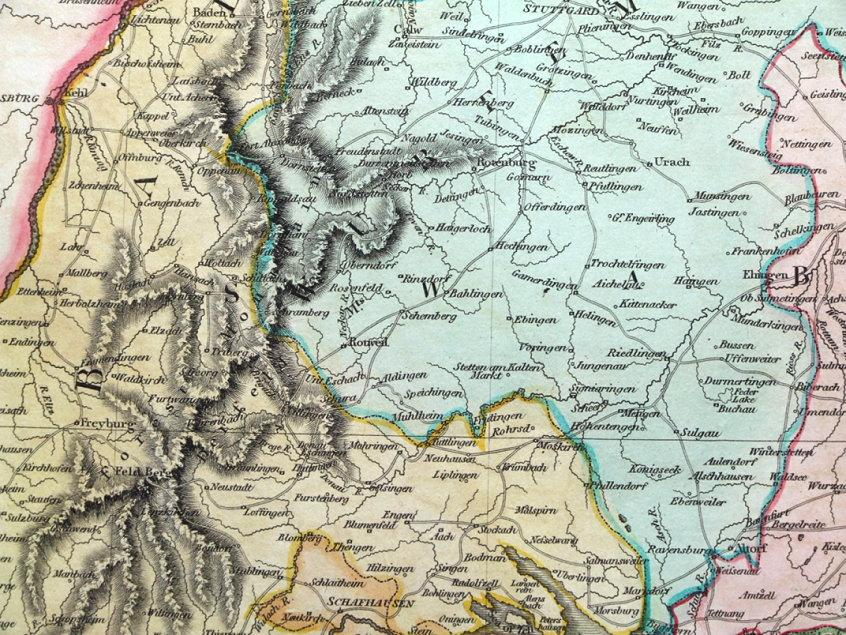 Map Of South Germany.Germany South Of The Main Austria Thomson
