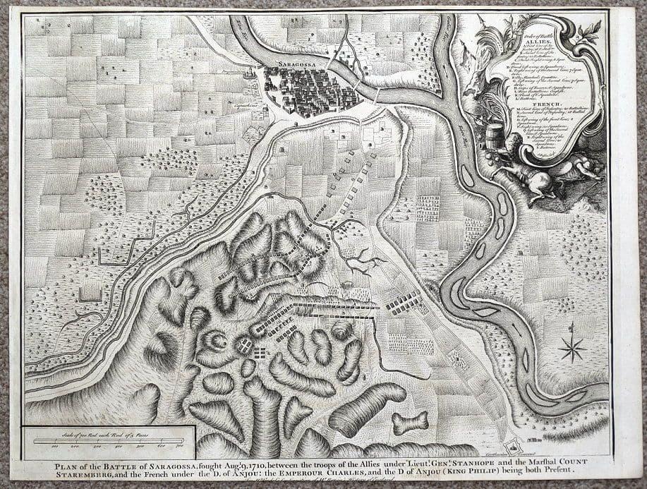 foto de ZARAGOZA, Battle of SARAGOSSA,SPAIN, City plan, Rapin/Tindal ...