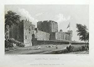 CARLISLE CASTLE, CUMBRIA Original steel engraved antique print 1829