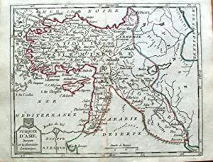 TURKEY IN ASIA CYPRUS Laporte Atlas Moderne Original Antique Map 1786