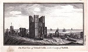 SUFFOLK ORFORD CASTLE ORFORD NESS Original Antique Copper Engraved Print c1770