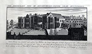 CAMBRIDGE HITCHINGBROOKE HOUSE HUNTINGDON Bucks Views Large Antique Print 1730