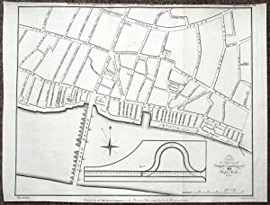 LONDON DOCKS, FREE QUAYS & STREET PLAN, LONDON BRIDGE TO TOWER antique map1799