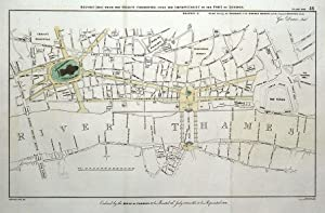 LONDON STREET PLAN, with new London Bridge, G.Dance original antique map1800