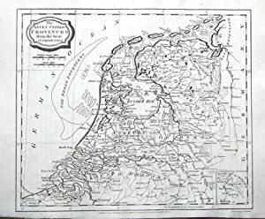 THE SEVEN UNITED PROVINCES OF THE NETHERLANDS Brightly, Barlow Antique Map 1807