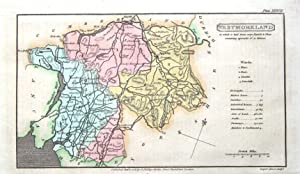 WESTMORLAND, Capper Original First Edition Hand Coloured Antique County Map 1808