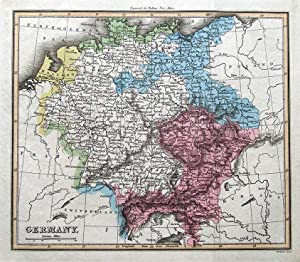 GERMANY Thomson,Walker original hand coloured antique map 1816
