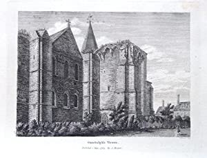 KENT, GUNDULPH'S TOWER, ROCHESTER CATHEDRAL, Hooper Antique Print 1784