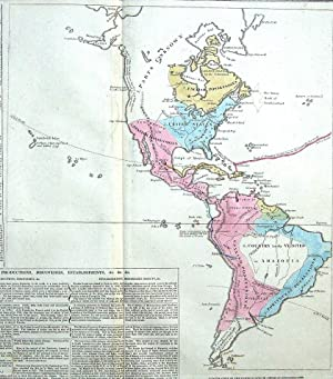 AMERICA, LE SAGE HISTORICAL ATLAS, Hand Coloured Antique Map 1818