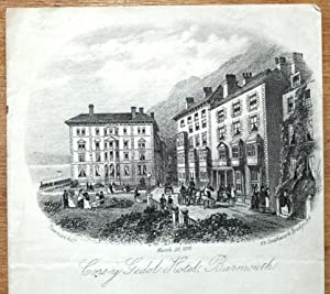 WALES, CORS -Y GEDOL HOTEL, ST ANNES SQUARE, BARMOUTH Antique Print 1878