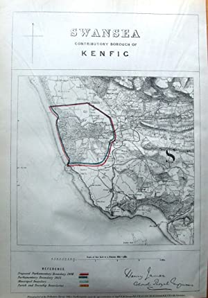 WALES, SWANSEA, KENFIG BURROWS, NEWTON NOTTAGE, Antique Map 1868
