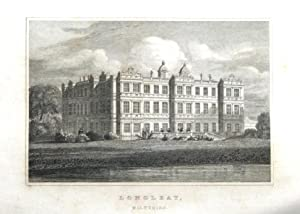 WILTSHIRE, LONGLEAT, J.P.Neale Steel Engraved Antique Print 1830