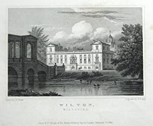 WILTON HOUSE, WILTON, WILTSHIRE Original antique print 1830