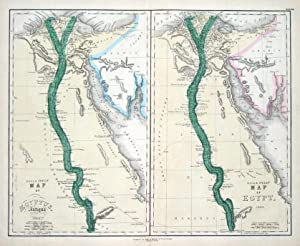 EGYPT, ANCIENT & MODERN Gall & Inglis Pair of original antique maps c1850