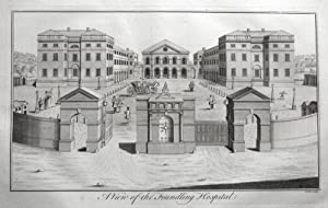 FOUNDLING HOSPITAL, BLOOMSBURY, LONDON, Maitland antique print 1756