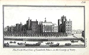 LONDON SOUTH BANK LAMBETH PALACE Original Copper Engraved Antique Print c1770