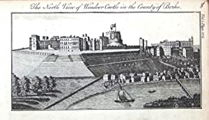 BERKSHIRE WINDSOR TOWN CASTLE & ETON COLLEGE Original Antique Print c1790
