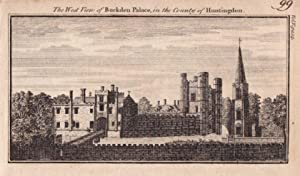 CAMBRIDGESHIRE BUCKDEN PALACE Original Antique Copper Engraved Print c1770