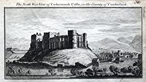 CUMBRIA COCKERMOUTH CASTLE Original Antique Copper Engraved Print 1770