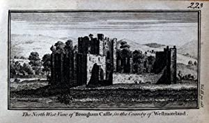 CUMBRIA PENRITH BROUGHAM CASTLE Original Copper Engraved Antique Print c1770