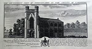 THORNEY ABBEY, CAMBRIDGESHIRE, S&N BUCK original antique print 1730