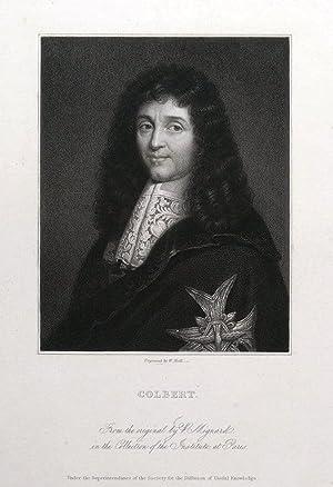 JEAN BAPTISTE COLBERT, French politician original antique