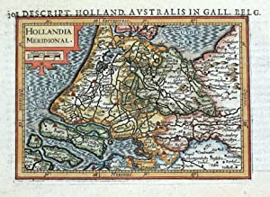 S.NETHERLANDS, HOLLAND, HOLLANDIA MERIDIONAL, BERTIUS original antique map 1618