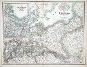 POLAND, PRUSSIA A.Fullarton original antique map c1860