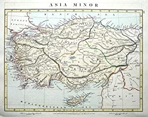 ASIA MINOR, ANATOLIA, TURKEY, CYPRUS, Arrowsmith Antique Map 1828