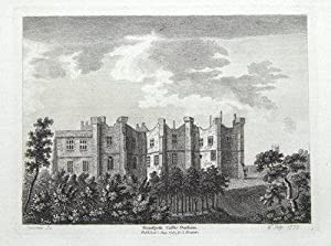 BRANCEPETH CASTLE, DURHAM Original antique print 1783