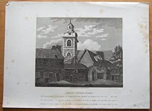 CHRIST CHURCH , BLACKFRIARS ROAD, SOUTHWARK, LONDON J.Booth antique print 1812