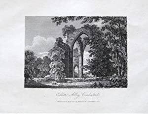 CUMBERLAND, CUMBRIA, CALDER ABBEY Antique Print 1809