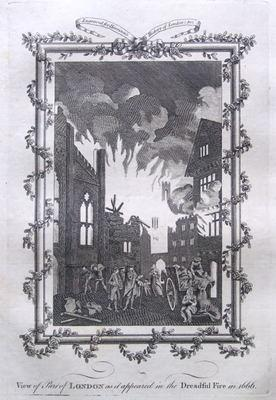 FIRE OF LONDON, Harrison. original antique print 1776