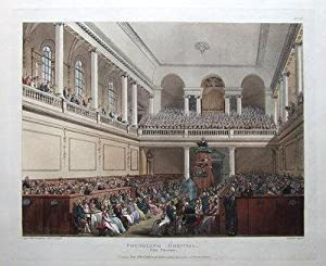 FOUNDLING HOSPITAL, ORMOND ST. ACKERMANN, MICROCOSM OF LONDON antique print 1808