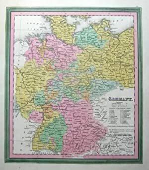 GERMANY, HANOVER, LUBECK, ,FRANKFURT,Antique map 1845