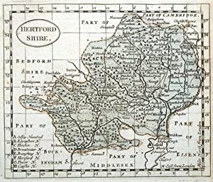 HERTFORDSHIRE John Seller original antique map c1780