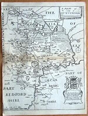 HUNTINGDONSHIRE Richard Blome, Thomas Bakewell Original antique map c1735