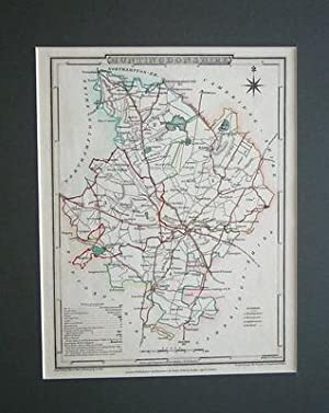 HUNTINGDONSHIRE, Original, Hand Coloured,Mounted, Antique Map 1806