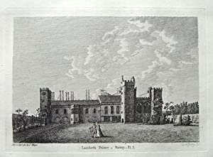 LAMBETH PALACE, LONDON. antique print 1784